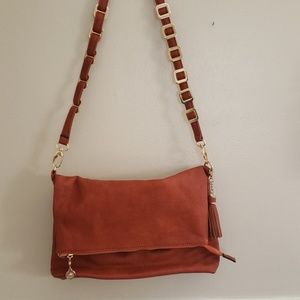 Burnt orange crossbody purse